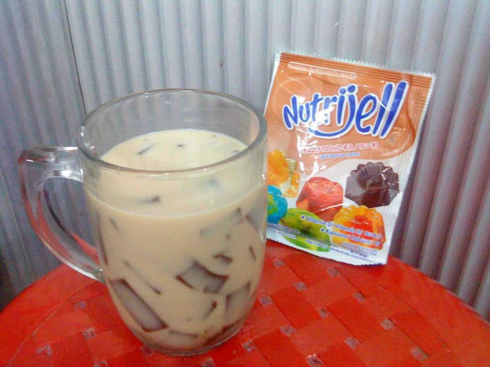 Nutrijell Coklat – Jelly Cendol Recipe with Coffemate