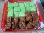 brownies kukus skippy and pandan